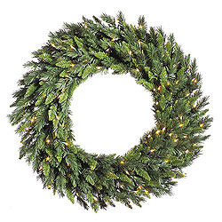 36 Inch Imperial Pine Wreath 50 LED Warm White Lights