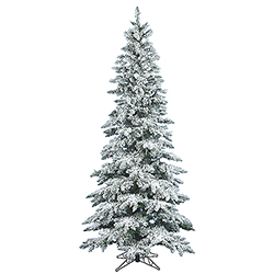 12 Foot Flocked Slim Utica Fir Artificial Christmas Tree Unlit