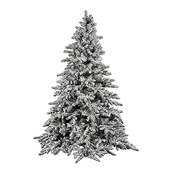10 Foot Flocked Utica Fir Artificial Christmas Tree Unlit