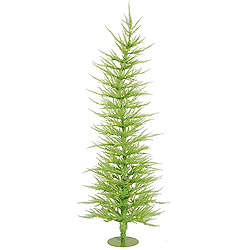 5 Foot Chartreuse Laser Artificial Christmas Tree 100 Clear Lights