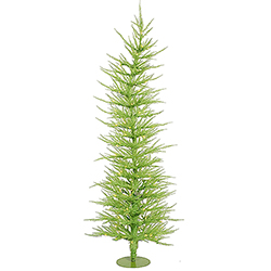 6 Foot Chartreuse Laser Artificial Christmas Tree 150 Green Lights