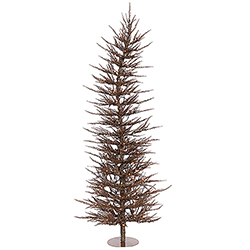 4 Foot Mocha Laser Artificial Christmas Tree 70 Clear Lights