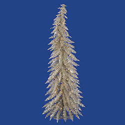4 Foot Champagne Artificial Christmas Tree 70 Clear Lights