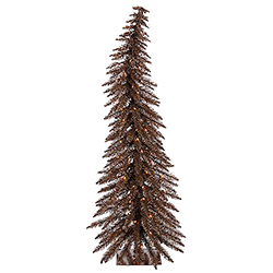 30 Inch Mocha Artificial Christmas Tree 35 Clear Lights