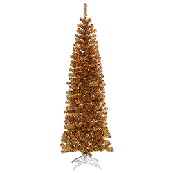 6 Foot Antique Gold Artificial Christmas Tree 350 Clear Lights