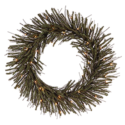 30 Inch Vienna Twig Wreath 35 Clear Lights