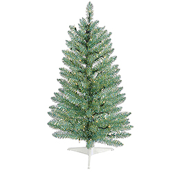 3 Foot Turquoise Green Pine Artificial Christmas Tree - Unlit
