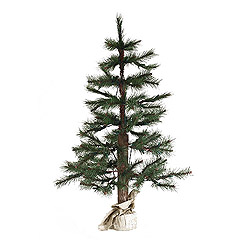 5 Foot Norwegian Pine Artificial Christmas Tree Burlap Base Unlit