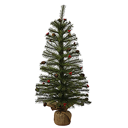 2.5 Foot Fresh Pistol Berry Pine Artificial Christmas Tree - Unlit