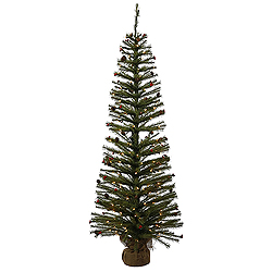 5 Foot Fresh Pistol Berry Pine Artificial Christmas Tree 150 Clear Lights