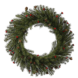 24 Inch Fresh Pistol Berry Pine Wreath