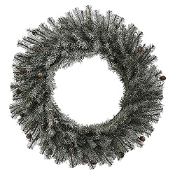 30 Inch Frosted Pistol Pine Wreath