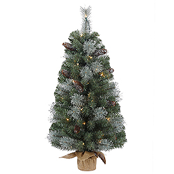 3 Foot Shasta Blue Mixed Pine Artificial Christmas Tree 50 Clear Lights