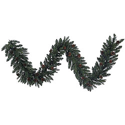 9 Foot Aberdeen Spruce Garland 50 Clear Lights