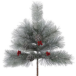 24 Inch Frosted Mixed Berry Pine Spray