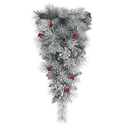 30 Inch Frosted Mixed Berry Pine Artificial Christmas Teardrop Unlit
