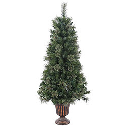 5 Foot Potted Butte Mixed Pine Artificial Christmas Tree Unlit