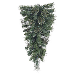 30 Inch Butte Mixed Pine Artificial Christmas Teardrop Unlit