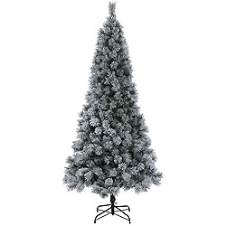 9 Foot Frosted Brewer Pine Artificial Christmas Tree Unlit