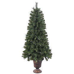 5 Foot Potted Classic Mixed Pine Artificial Christmas Tree Unlit