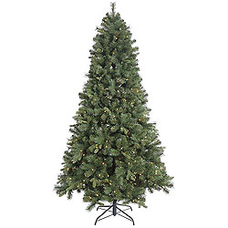 6.5 Foot Classic Mixed Pine Artificial Christmas Tree 450 Clear Lights