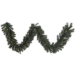 9 Foot Classic Mixed Pine Garland 50 Clear Lights