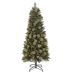 6 Foot Reno Mixed Pine Artificial Christmas Tree 200 Clear Lights