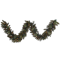 9 Foot Reno Mixed Pine Garland 50 Clear Lights