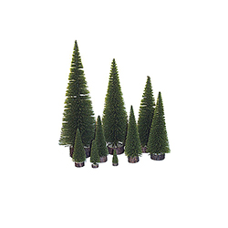16 Inch Moss Green Pine Village Tree Unlit