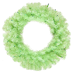 24 Inch Chartruese Wreath 50 Green Lights