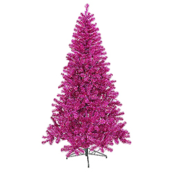 7 Foot Fuchsia Artificial Christmas Tree 500 Purple Lights
