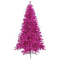 9 Foot Fuchsia Artificial Christmas Tree 700 Purple Lights