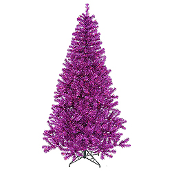9 Foot Purple Artificial Halloween Tree 700 Purple Lights