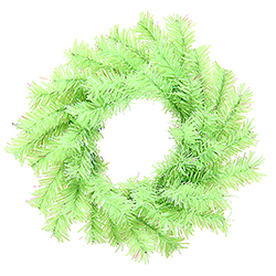 6 Inch Chartreuse Mini Artificial Christmas Wreath Unlit 6 per Set