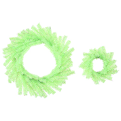 10 Inch Chartreuse Wreath Set