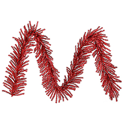 9 Foot Red Mini Artificial Christmas Garland 500 Tips