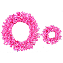Hot Pink Wreath Set - Assorted Sizes - Box Of 12