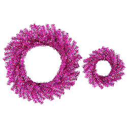 Fuchsia Wreath Set 18 Inch And 10 Inch Wreathes