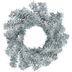 6 Inch Silver Mini Wreath 6 per Set