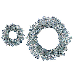 Silver Wreath Set 18 Inch And 10 Inch Wreathes 6 per Set