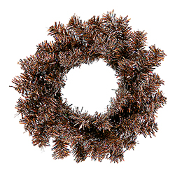 6 Inch Mocha Mini Artificial Christmas Wreath Unlit 6 per Set