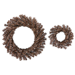 Mocha Wreath Set 18 Inch And 10 Inch Wreathes