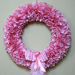 18 Inch Breast Cancer Awareness Wreath
