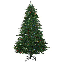7.5 Foot Nikko Instant Artificial Christmas Tree 750 LED Multi Lights