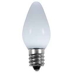 25 Smooth C7 LED Frosted Cool White Retrofit Replacement Bulbs C7 Base