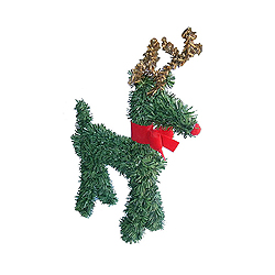 4 Inch Reindeer With Red Bow