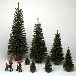 12 Inch Mini Pine Artificial Christmas Tree 4 per Set