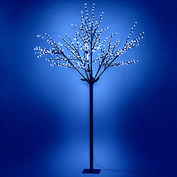6 Foot Blue Cherry Tree  108 LED Lights