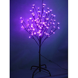 6 Foot Purple Cherry Tree  108 LED Lights
