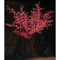 8 Foot Cherry Blossom Tree 2304 LED Red Lights